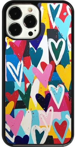 Coque iPhone 13 Pro Max - Joyful Hearts