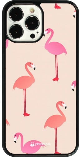 Coque iPhone 13 Pro Max - Pink Flamingos Pattern