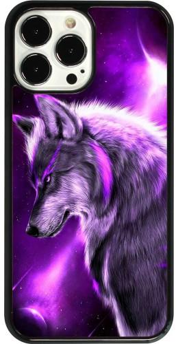 Coque iPhone 13 Pro Max - Purple Sky Wolf