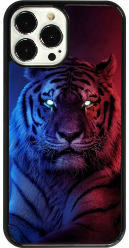 Coque iPhone 13 Pro Max - Tiger Blue Red