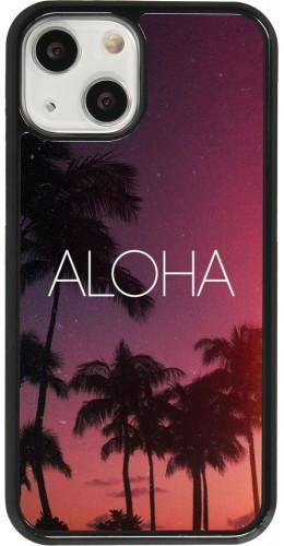 Coque iPhone 13 mini - Aloha Sunset Palms