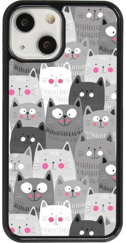 Coque iPhone 13 mini - Chats gris troupeau