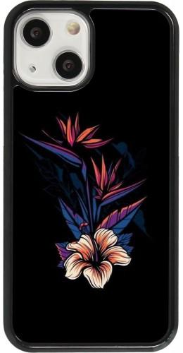 Coque iPhone 13 mini - Dark Flowers