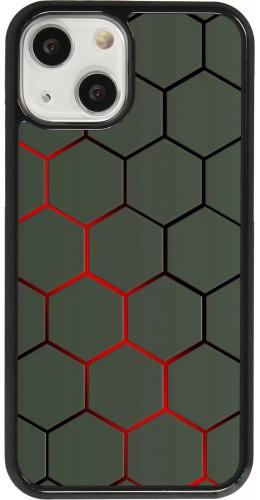 Coque iPhone 13 mini - Geometric Line red