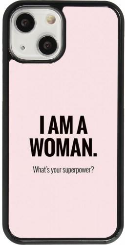 Coque iPhone 13 mini - I am a woman