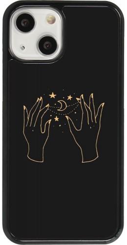 Coque iPhone 13 mini - Grey magic hands
