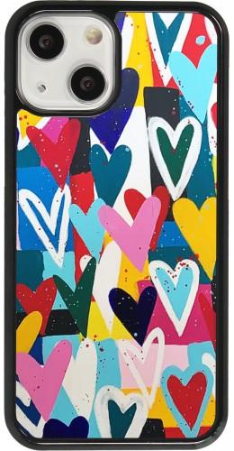 Coque iPhone 13 mini - Joyful Hearts