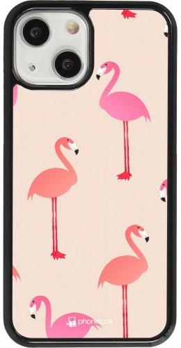 Coque iPhone 13 mini - Pink Flamingos Pattern