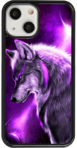 Coque iPhone 13 mini - Purple Sky Wolf