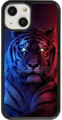 Coque iPhone 13 mini - Tiger Blue Red