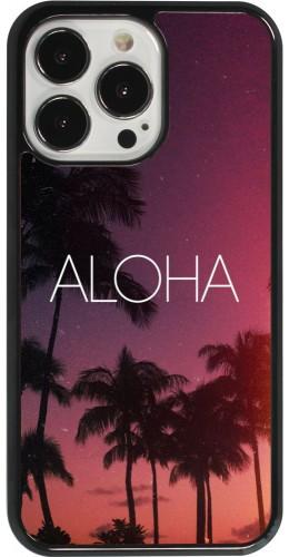 Coque iPhone 13 Pro - Aloha Sunset Palms