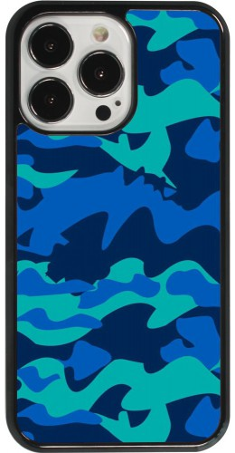 Coque iPhone 13 Pro - Camo Blue