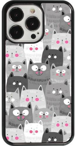 Coque iPhone 13 Pro - Chats gris troupeau