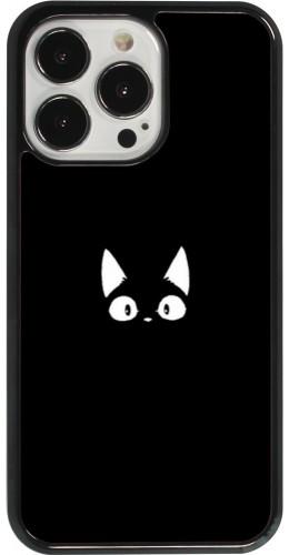 Coque iPhone 13 Pro - Funny cat on black