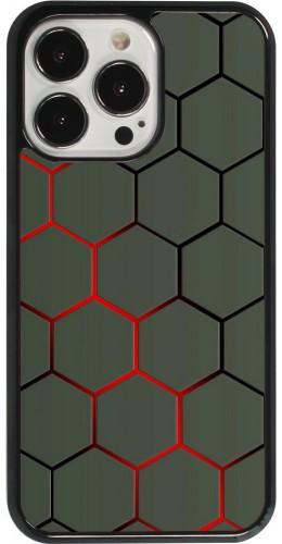 Coque iPhone 13 Pro - Geometric Line red
