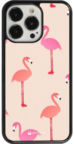 Coque iPhone 13 Pro - Pink Flamingos Pattern