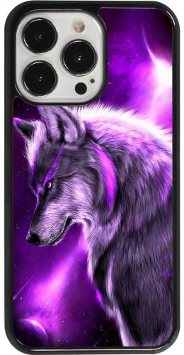 Coque iPhone 13 Pro - Purple Sky Wolf