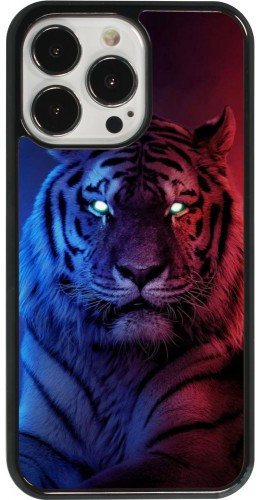 Coque iPhone 13 Pro - Tiger Blue Red
