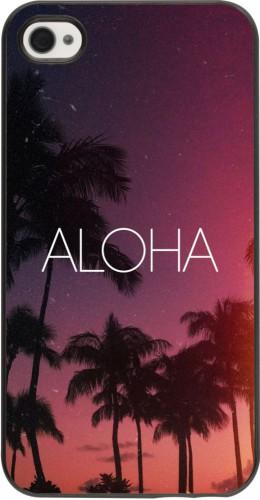 Coque iPhone 4/4s - Aloha Sunset Palms