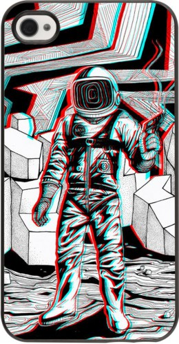 Coque iPhone 4/4s - Anaglyph Astronaut