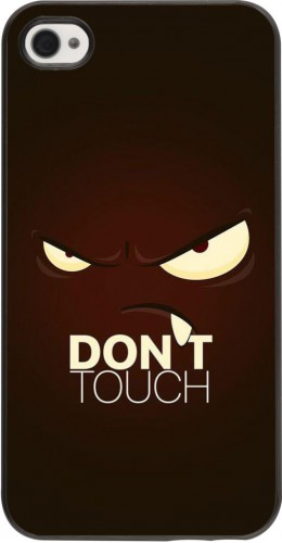 Coque iPhone 4/4s - Angry Dont Touch