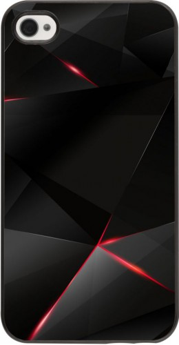 Coque iPhone 4/4s - Black Red Lines