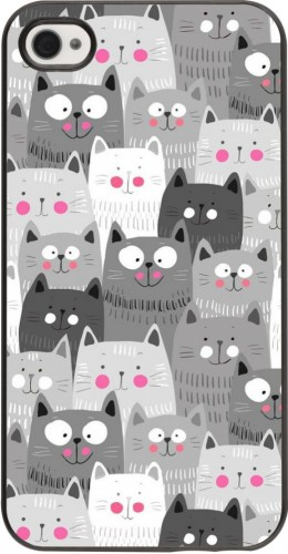 Coque iPhone 4/4s - Chats gris troupeau