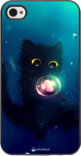 Coque iPhone 4/4s - Cute Cat Bubble