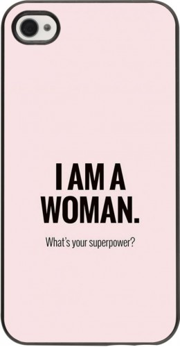 Coque iPhone 4/4s - I am a woman