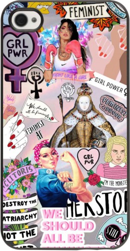Coque iPhone 4/4s - Girl Power Collage