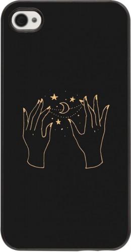 Coque iPhone 4/4s - Grey magic hands