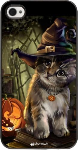 Coque iPhone 4/4s - Halloween 21 Witch cat