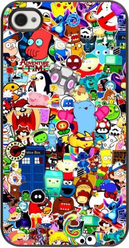 Coque iPhone 4/4s - Mixed cartoons
