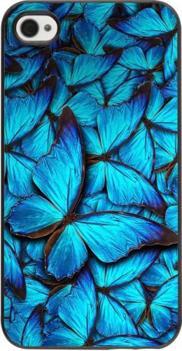 Coque iPhone 4/4s - Papillon bleu