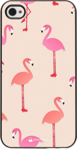 Coque iPhone 4/4s - Pink Flamingos Pattern