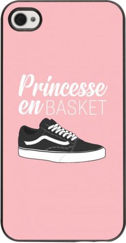 Coque iPhone 4/4s - princesse en basket