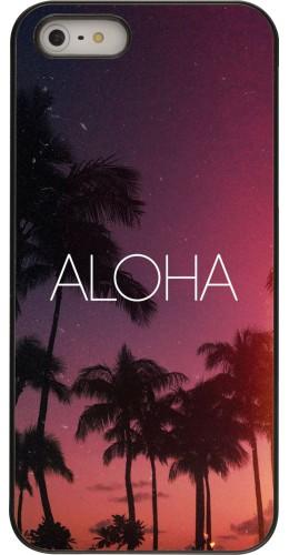 Coque iPhone 5/5s / SE (2016) - Aloha Sunset Palms