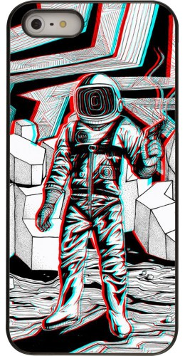 Coque iPhone 5/5s/SE - Anaglyph Astronaut