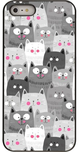 Coque iPhone 5/5s/SE - Chats gris troupeau