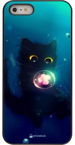 Coque iPhone 5/5s / SE (2016) - Cute Cat Bubble