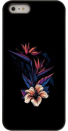 Coque iPhone 5/5s / SE (2016) - Dark Flowers