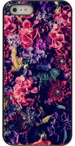 Coque iPhone 5/5s / SE (2016) - Flowers Dark