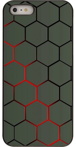 Coque iPhone 5/5s / SE (2016) - Geometric Line red
