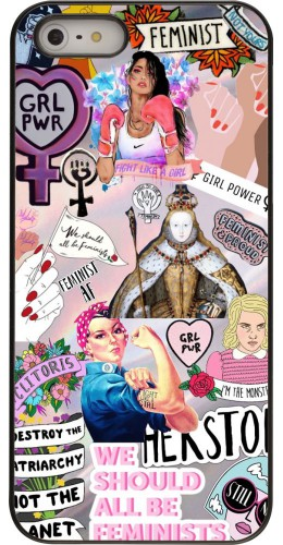 Coque iPhone 5/5s / SE (2016) - Girl Power Collage