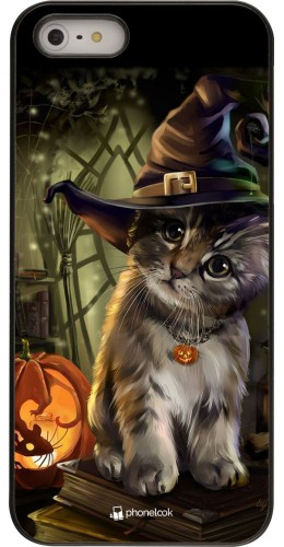 Coque iPhone 5/5s / SE (2016) - Halloween 21 Witch cat