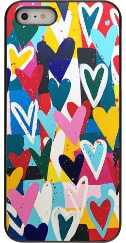 Coque iPhone 5/5s/SE - Joyful Hearts