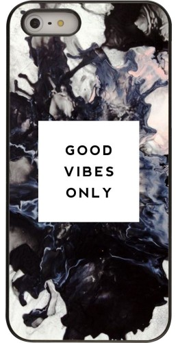 Coque iPhone 5/5s/SE -  Marble Good Vibes Only