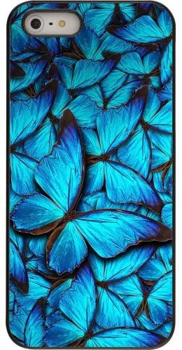Coque iPhone 5/5s / SE (2016) - Papillon bleu