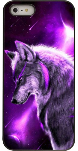 Coque iPhone 5/5s/SE - Purple Sky Wolf