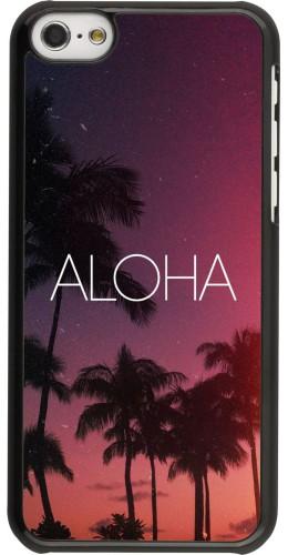 Coque iPhone 5c - Aloha Sunset Palms